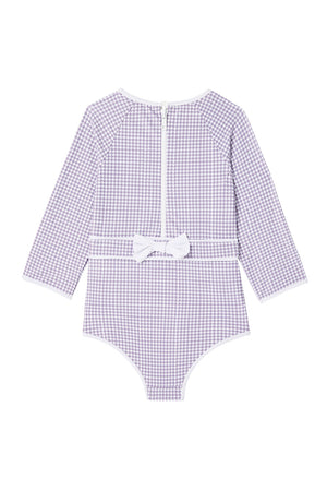 Dot Dot Swim_Lilac Houndstooth One-Piece Sunsuit - The Child Hood