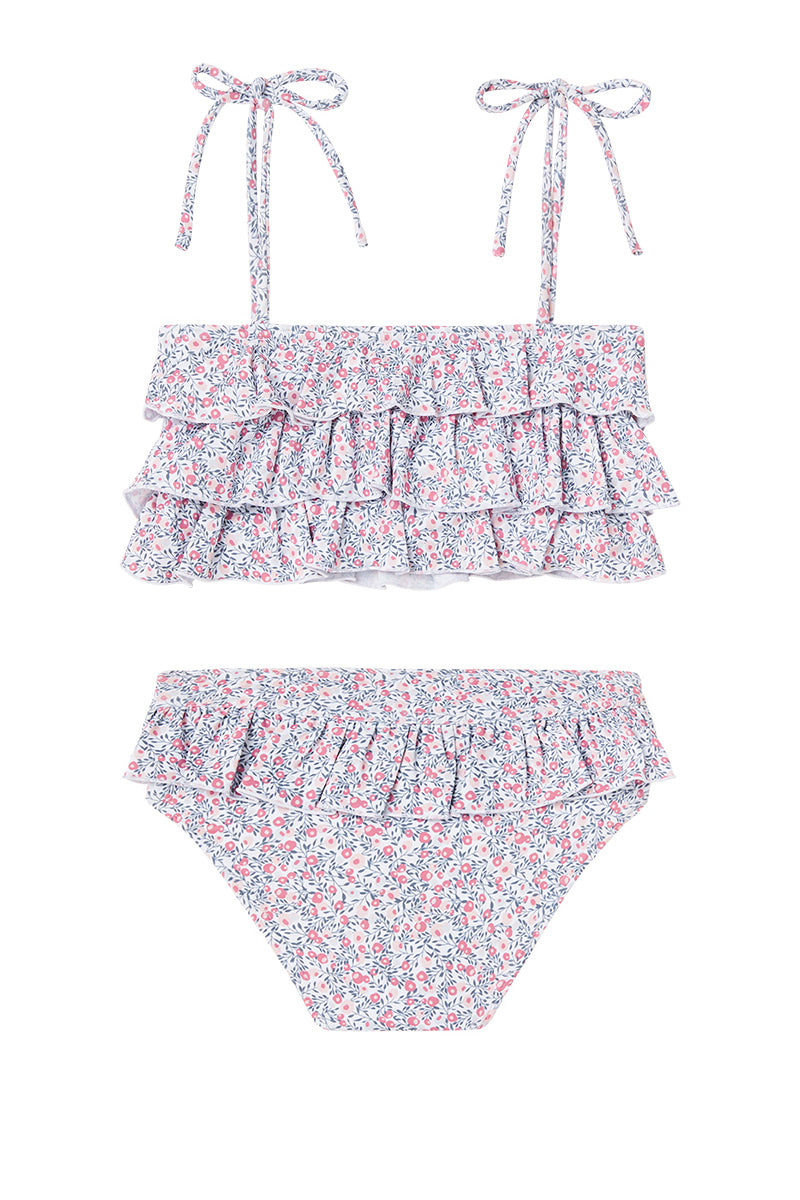 Dot Dot Swim_Cherry Blossom Ruffle Two-Piece - The Child Hood