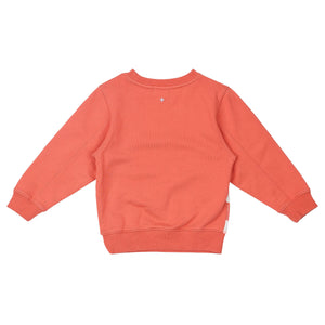 G+A SUNRISE RELAXED SWEATER PEACH PINK