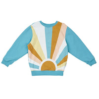 G+A SUNRISE RELAXED SWEATER SURF