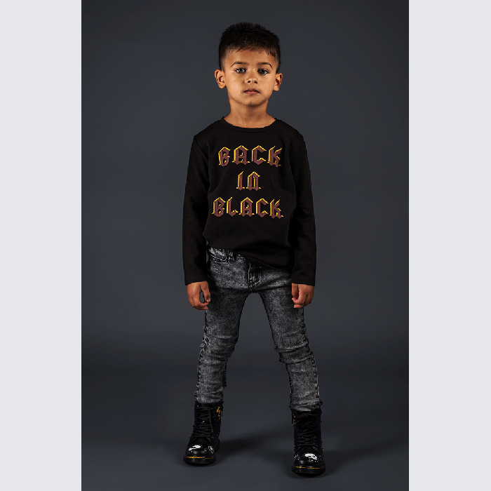 Rock Your Baby_Back in Black Long Sleeve T-Shirt - The Child Hood