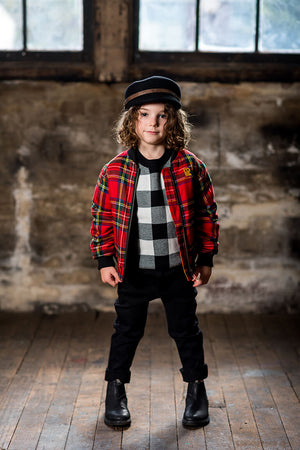 Rock Your Baby_Tartan Bomber Jacket - The Child Hood