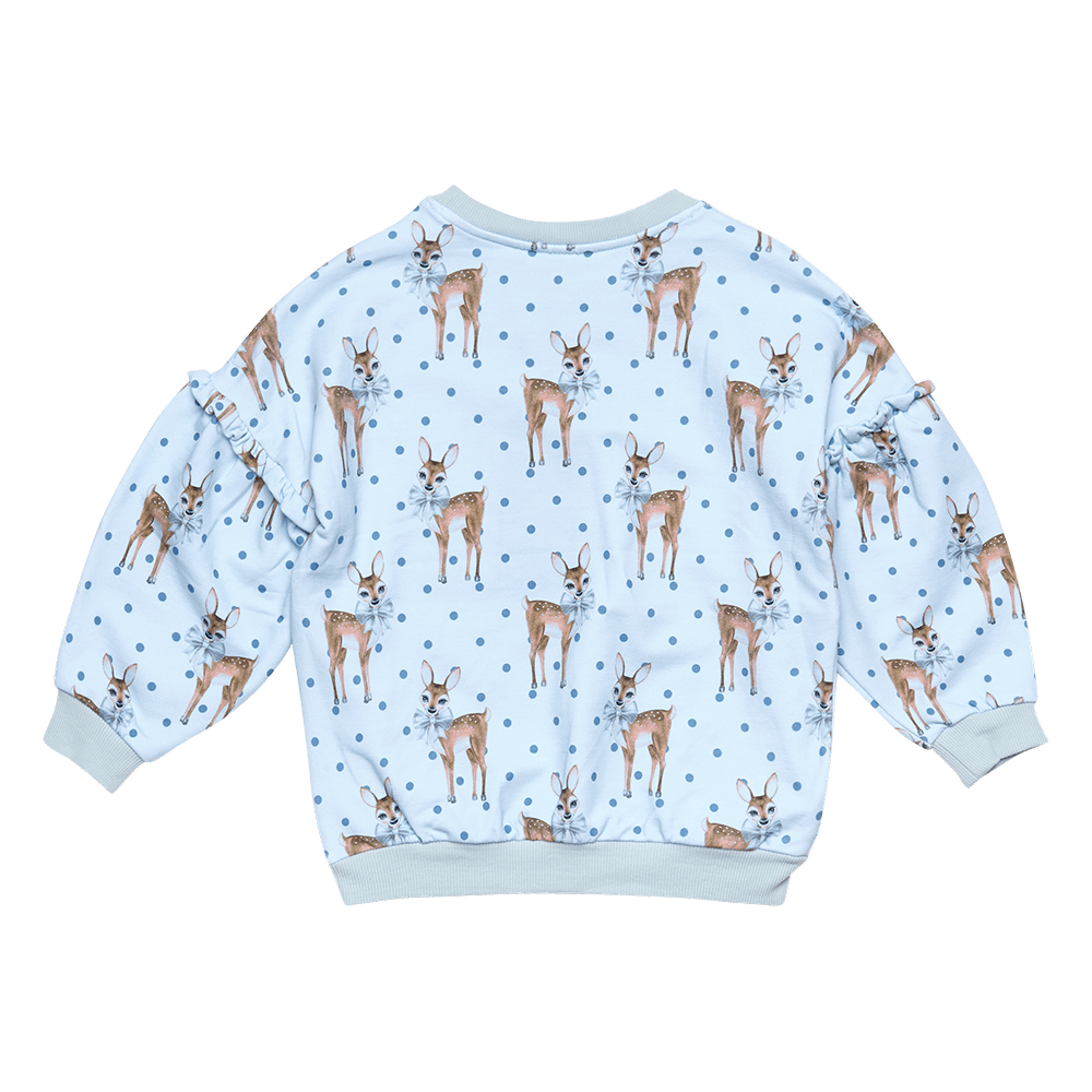 Rock Your Baby_Deer Heart Puff Sleeve Sweatshirt - The Child Hood