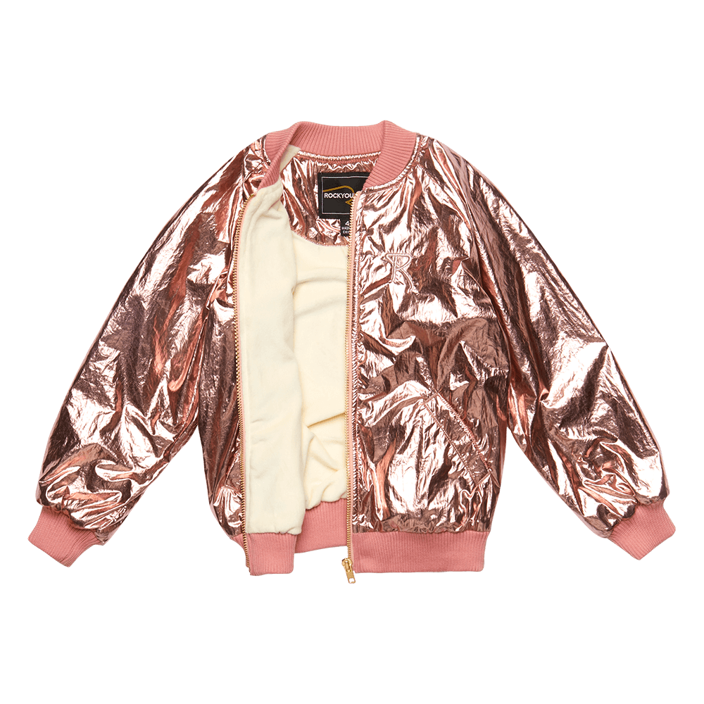 Rock Your Baby_Metallic Pink Jacket - The Child Hood