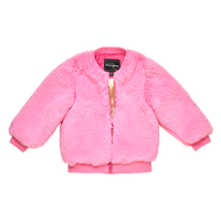 Rock Your Baby_Pink Faux Fur Jacket - The Child Hood