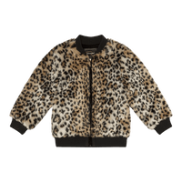 ANIMAL FAUX FUR JACKET