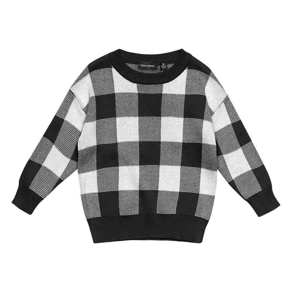 Rock Your Baby_Black/White Knit Sweater - The Child Hood
