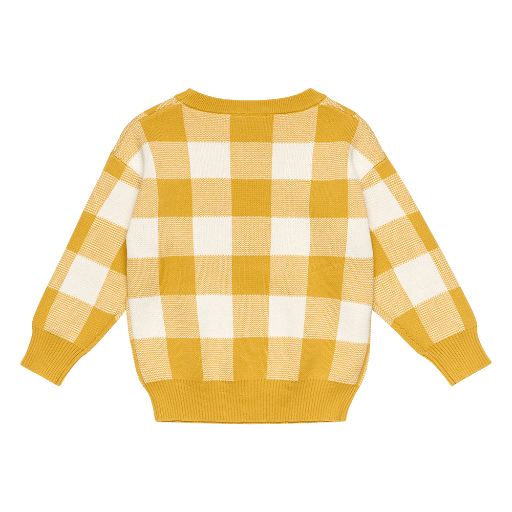 Rock Your Baby_Mustard/White Knit Sweater - The Child Hood