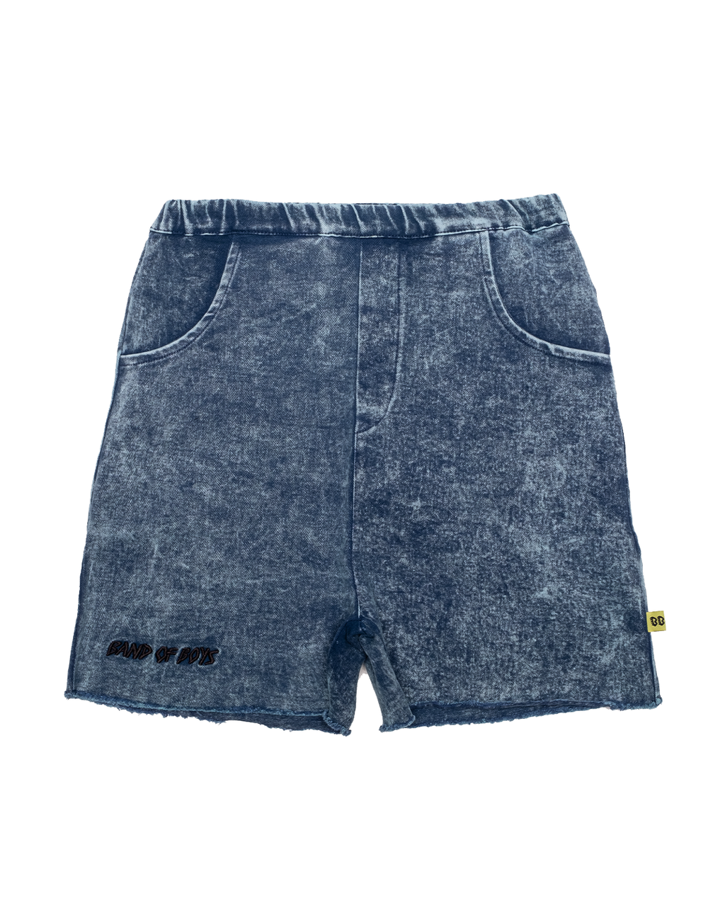 Vintage Blue Relaxed Denim Shorts