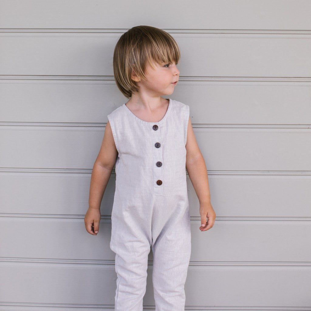 Daughter_Lior Romper Fog Linen - The Child Hood