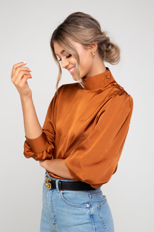 Lou Satin Blouse