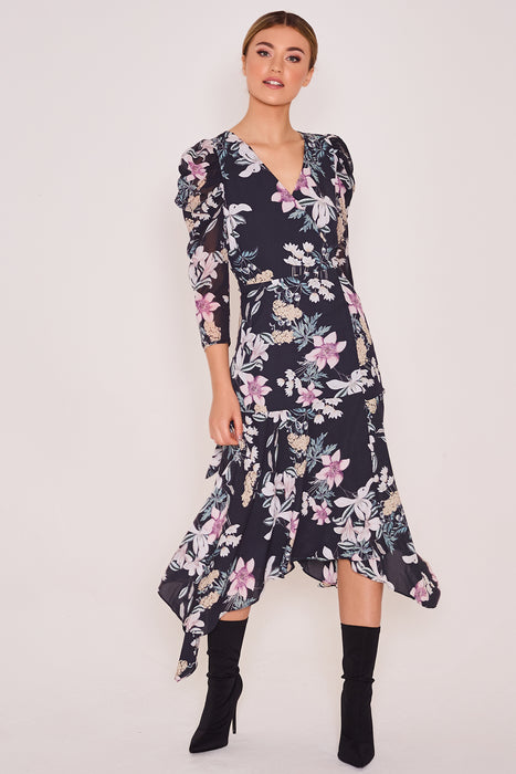 Peeta Floral Wrap Dress