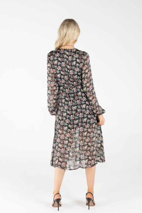 Eddie Lurex Floral Dress