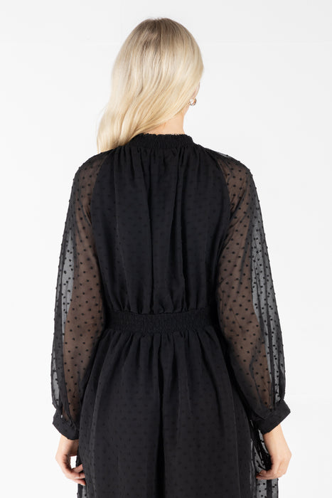 Eden Long Sleeve Black Dress