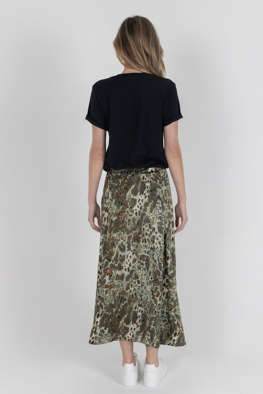 Zoe Satin Grey Skirt