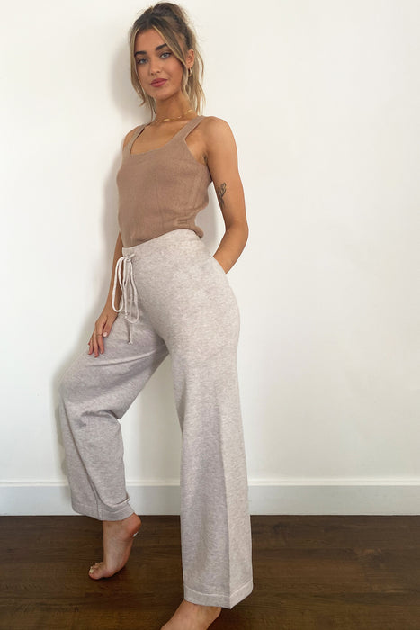 Wendy Wide Leg Trousers in Beige