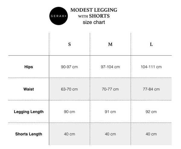 Modest Legging with Shorts