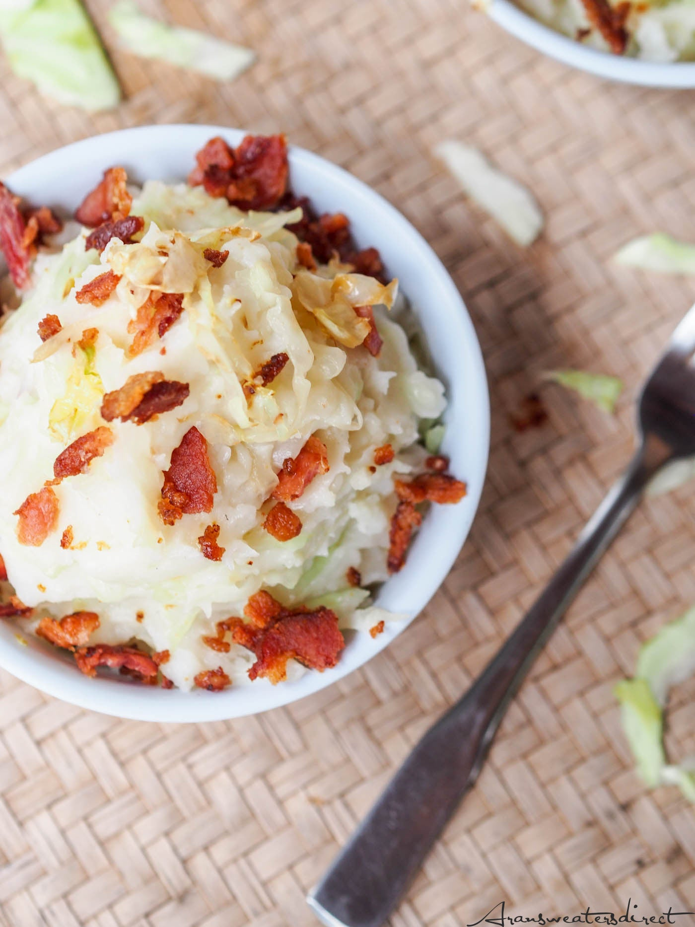 Irish Colcannon with Cabbage & Bacon Recipe #dairyfree #glutenfree #recipe