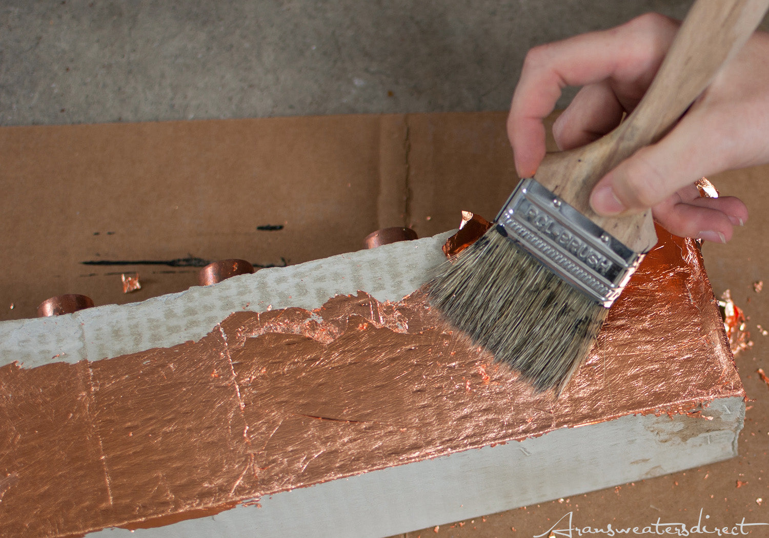 Step 7b: DIY Cement & Copper Candle Centerpiece #diy #copper #home #interior