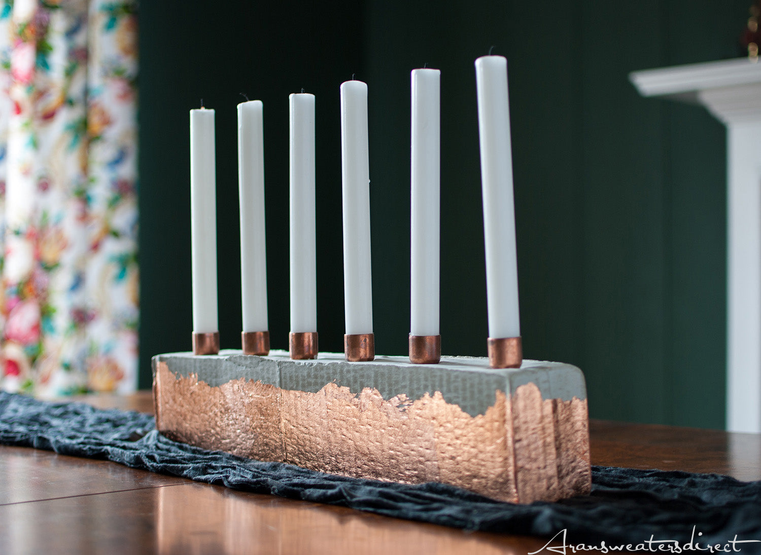 Step Eight: DIY Cement & Copper Candle Centerpiece #diy #copper #home #interior