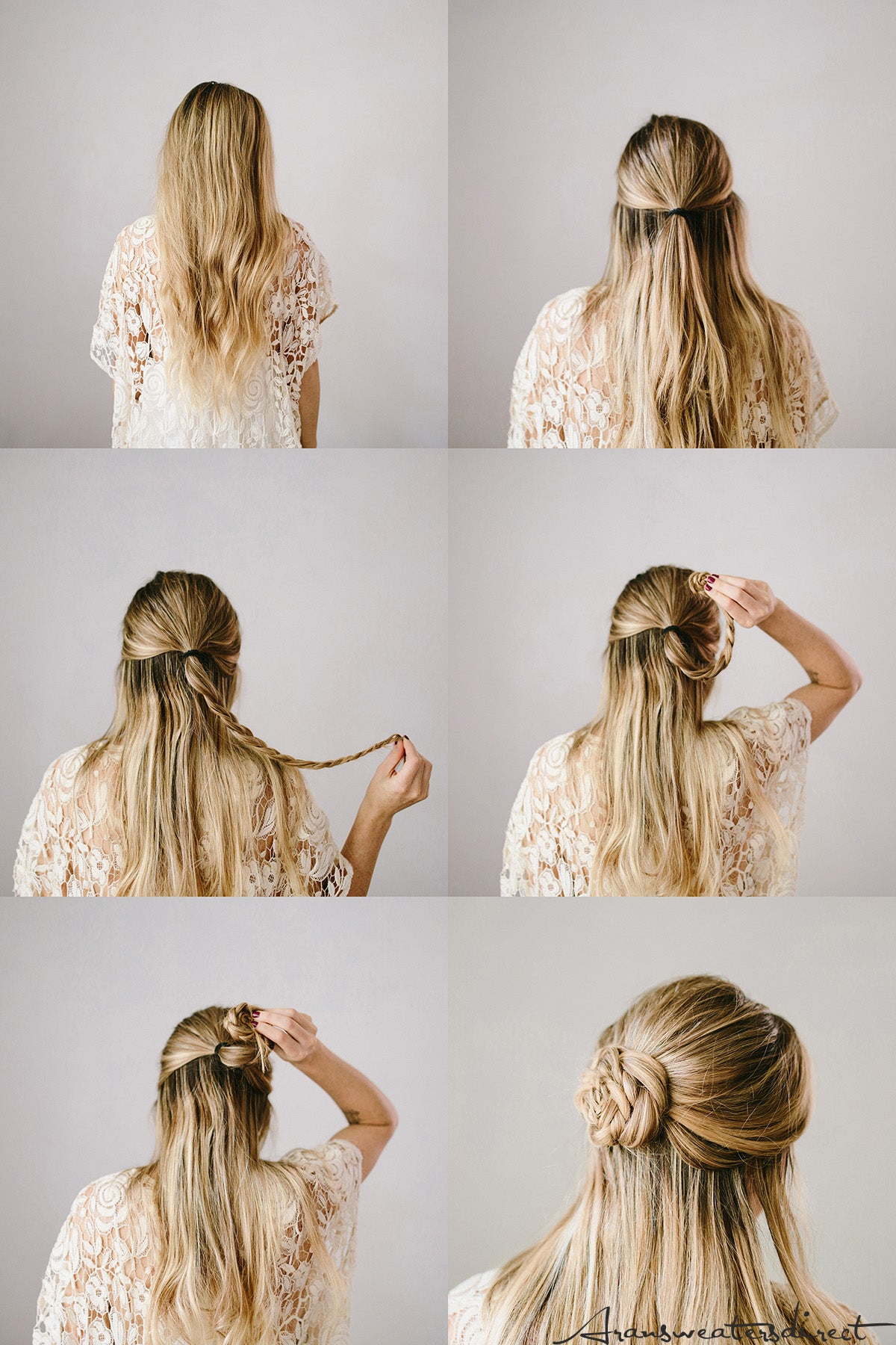 How to: DIY Rose Bun Hair Tutorial #hair #tutorial #bun