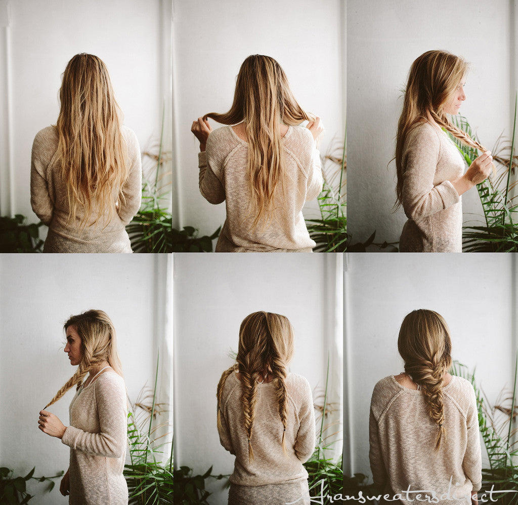 Make your hair stylish for fall with this easy fishtail braids. #women #braided #hairstyle