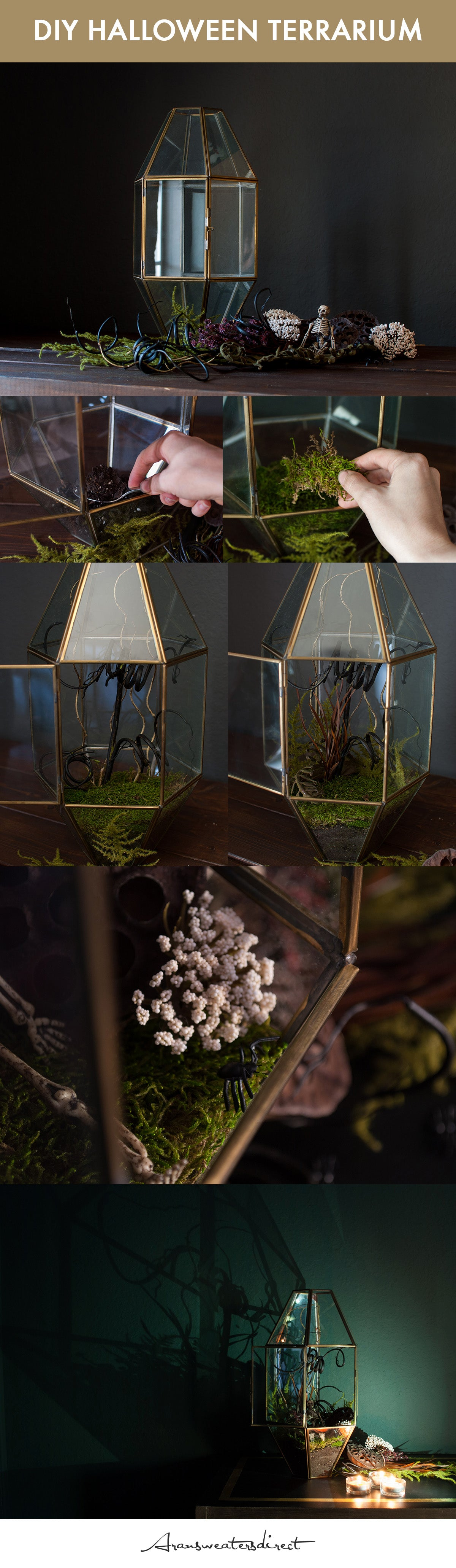 DIY Halloween Terrarium Tutorial #DIY #Halloween