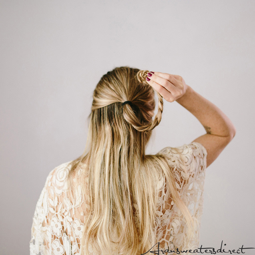 Step Four: DIY Rose Bun Hair Tutorial #hair #tutorial #bun