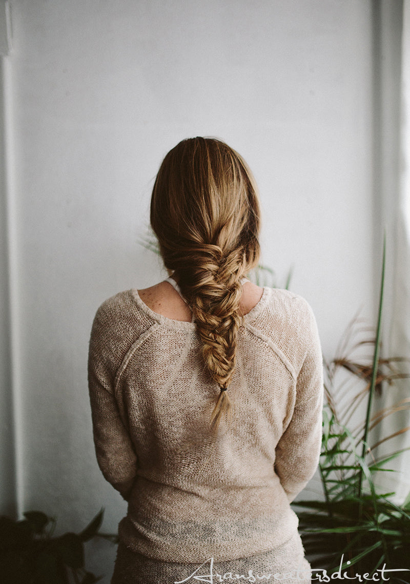 Make your hair stylish for fall with this easy fishtail braids (Step 6). #women #braided #hairstyle