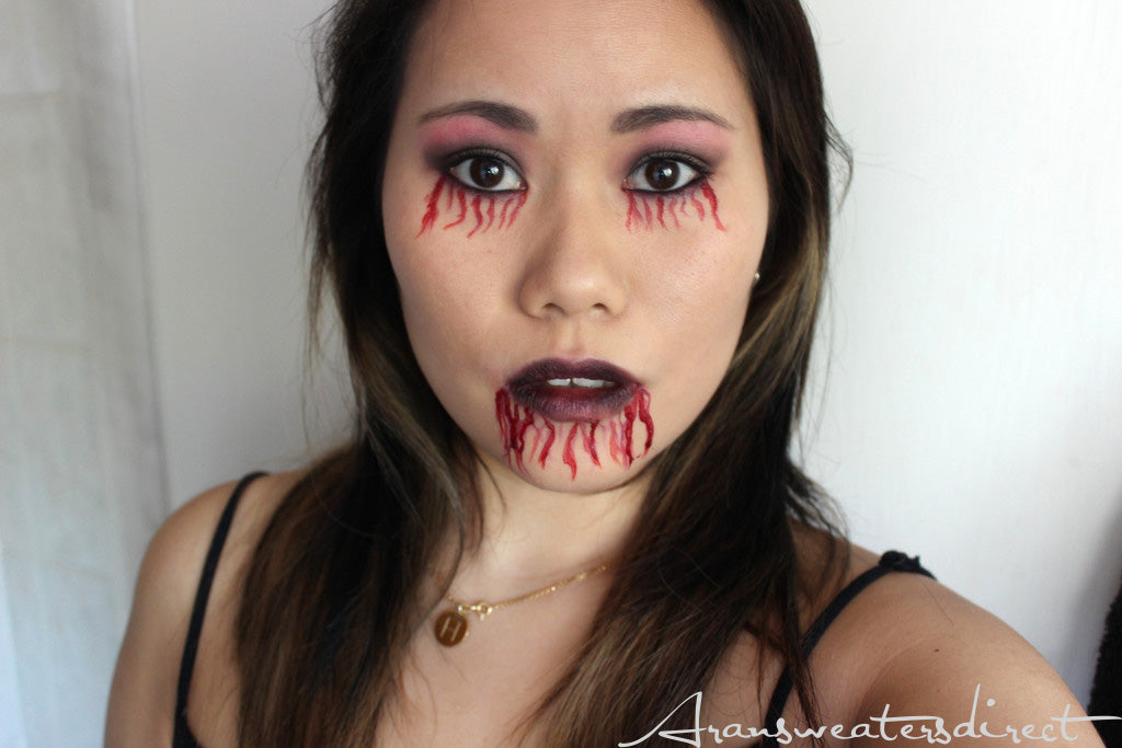 Finished Look: Simple Zombie Halloween Make Up. #halloween #makeup #beauty