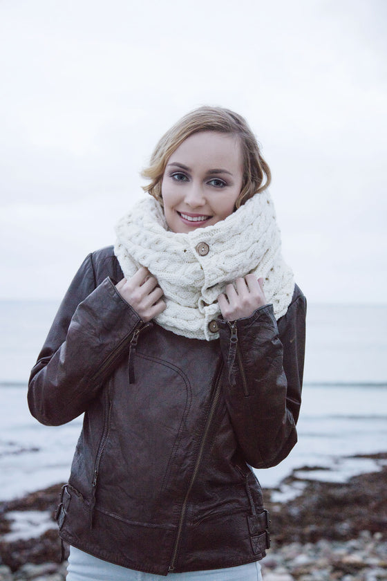 Irish Wool Snood Scarf