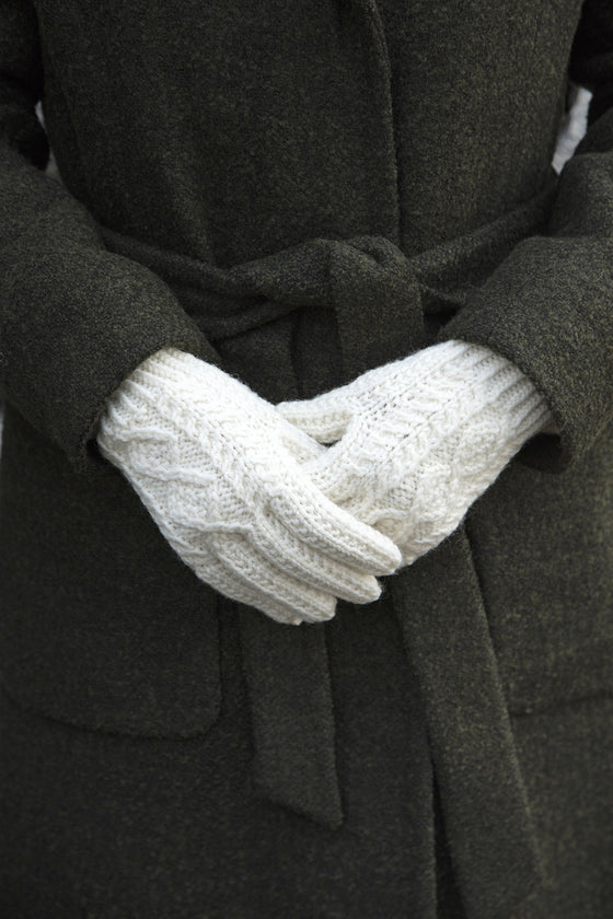 Aran Knit Gloves