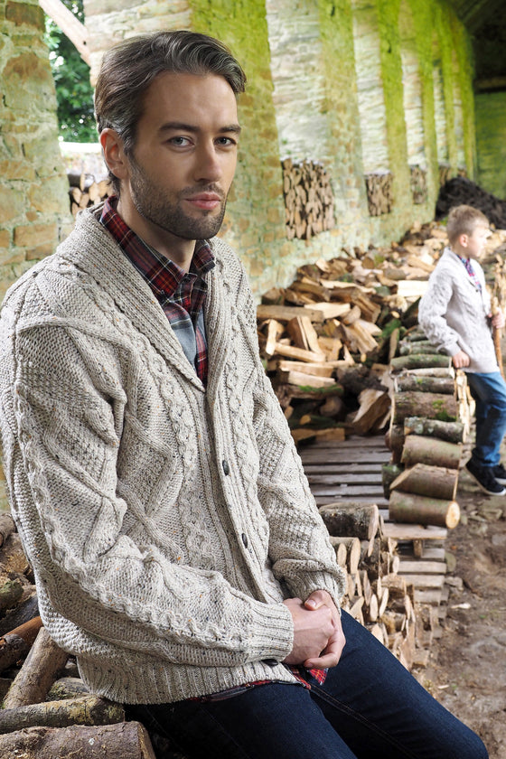 Men's Merino Cardigan Sweater - Oatmeal