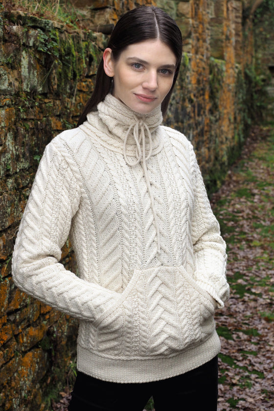 Women's Cowl Neck - Natural