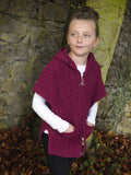 Girls Hooded Cape with Zip