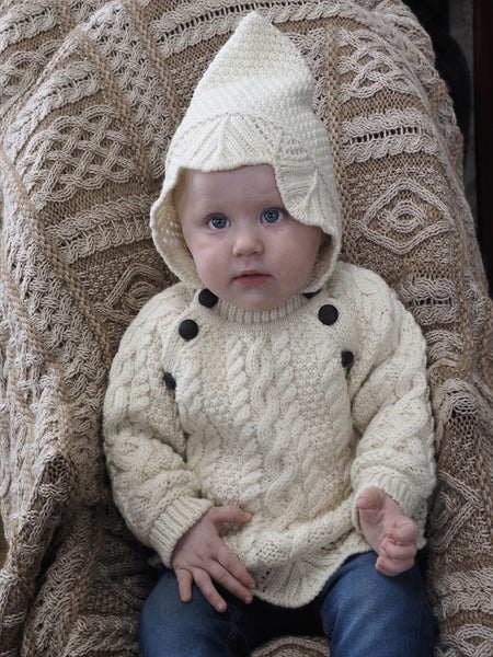 Baby Hooded Sweater - Natural