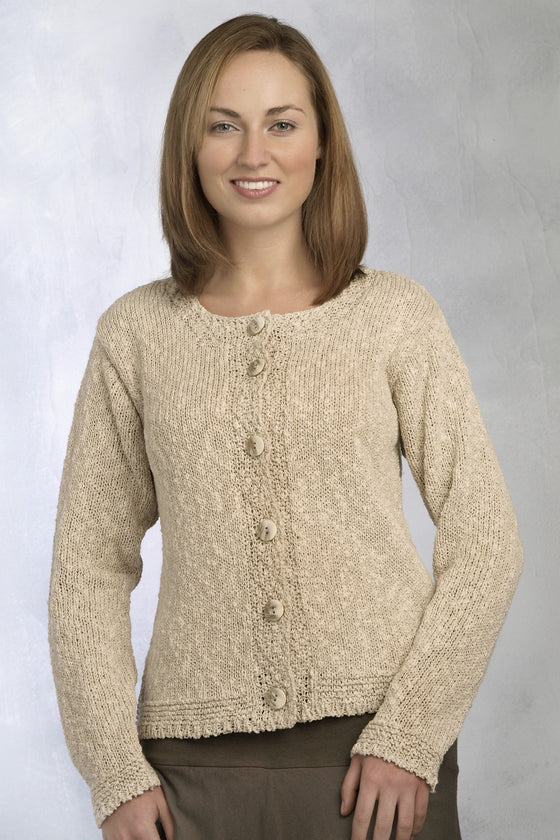 Linen Cotton Knitted Cardigan