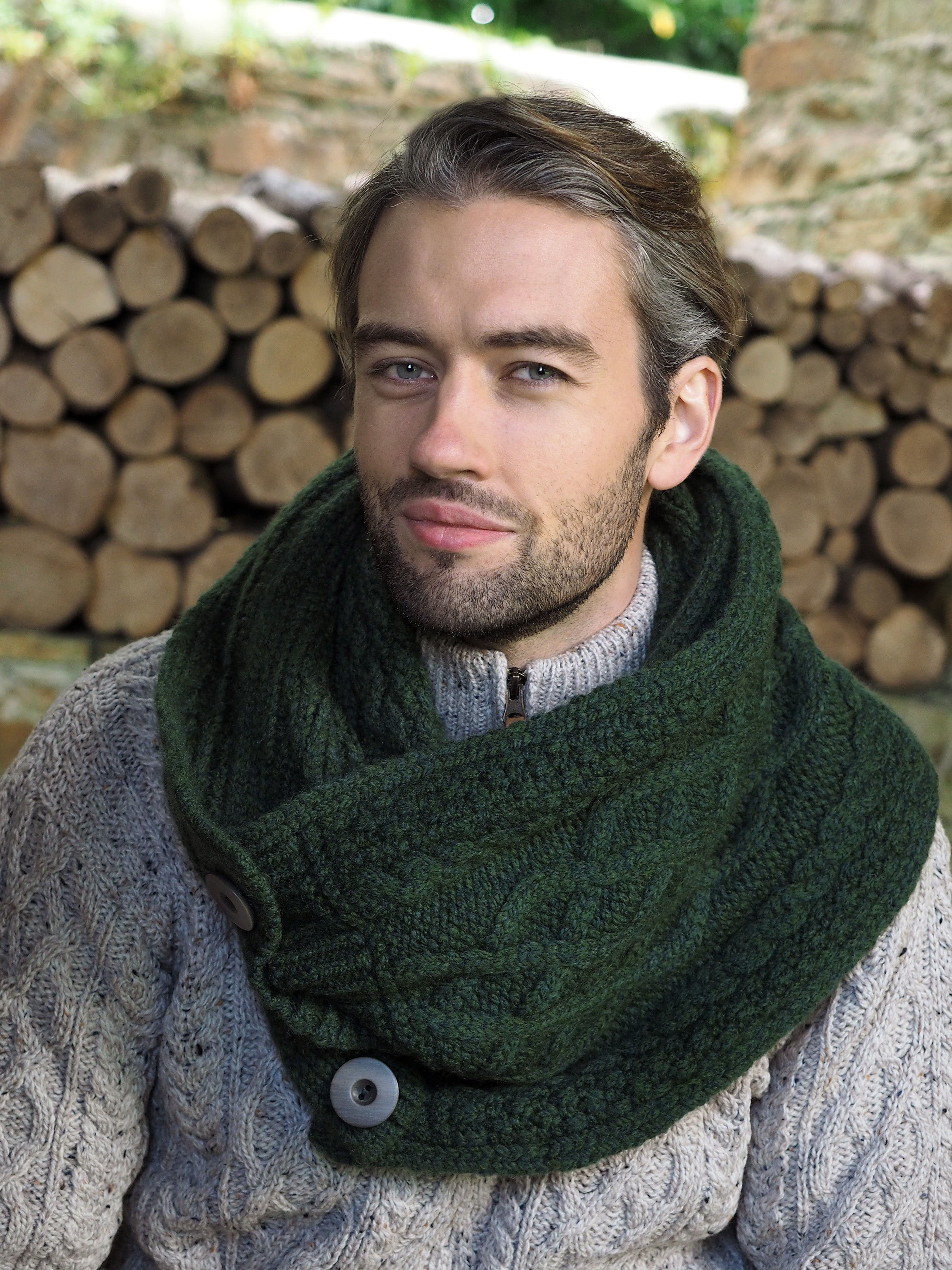 Super Soft Infinity Snood - Green