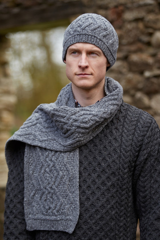Nua Men's Scarf - Charcoal Grey