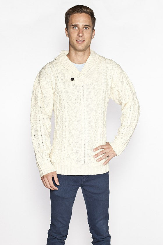 Men's Merino Shawl Collar Sweater