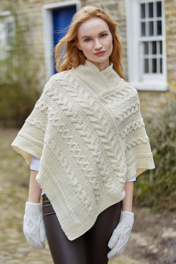 Women's Aran Cape - Natural
