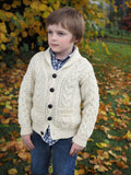 Boys Shawl Collar Cardigan