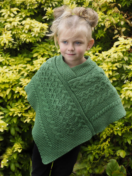 Children's Poncho - Marl Green