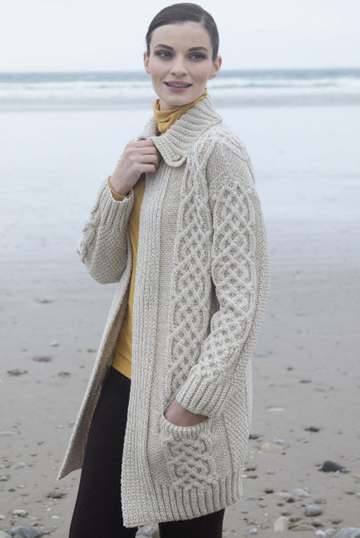 Women's Plated Coat Cardigan - Wicker