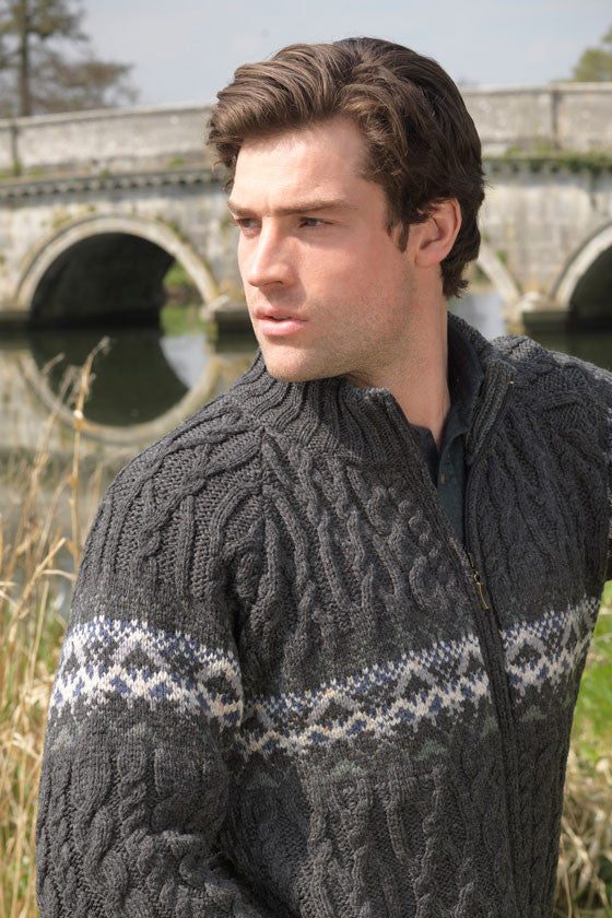 Men's Fair Isle Zip Cardigan