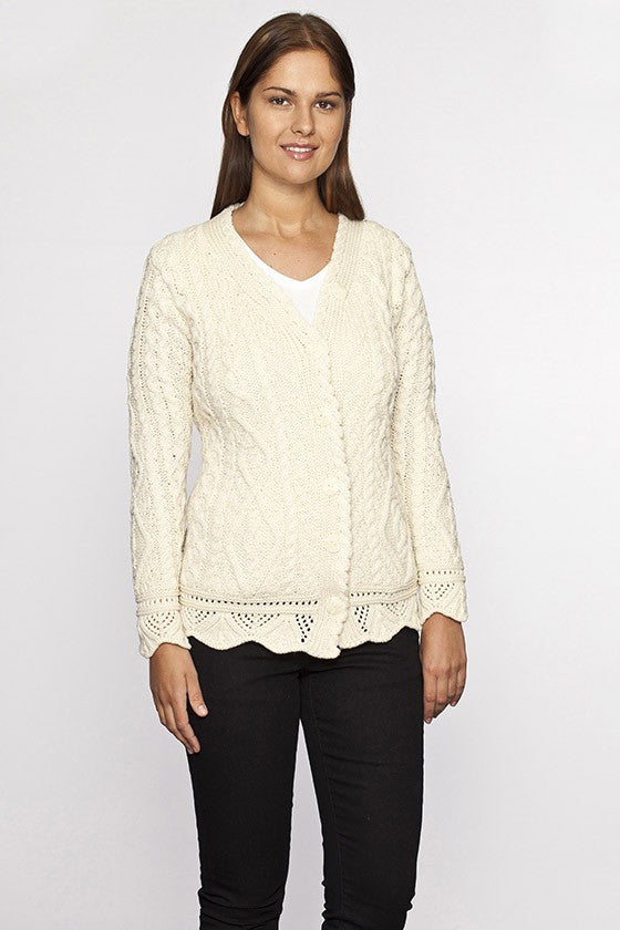 Women's Shawl Collar Irish Sweater