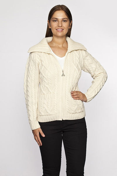 Merino Wool Cable Knit Sweater