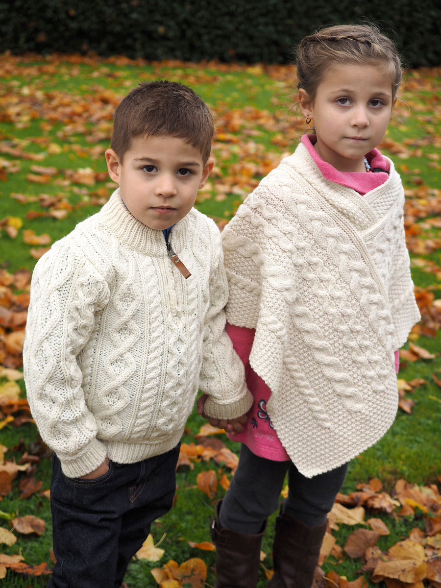 Children's Poncho - Natural