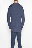 Men's Oversized Fishermans Sweater - Denim