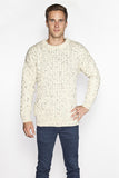 Men's Crew Neck Irish Wool Sweater - Fleck